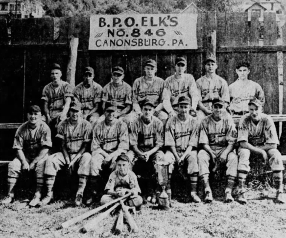 Ed Butka with Canonsburg Elks