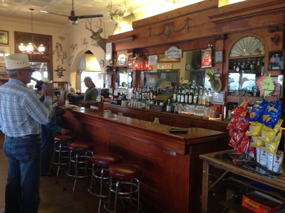 The teller stations had been converted to a bar inside the Jersey Lilly.