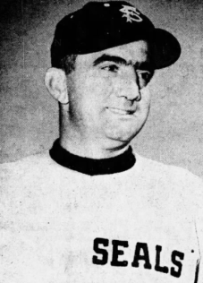 Dario Lodigiani Yakima Manager in Seals Uni 1952