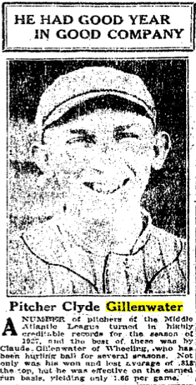 Glaral Gillenwater - TSN 1928