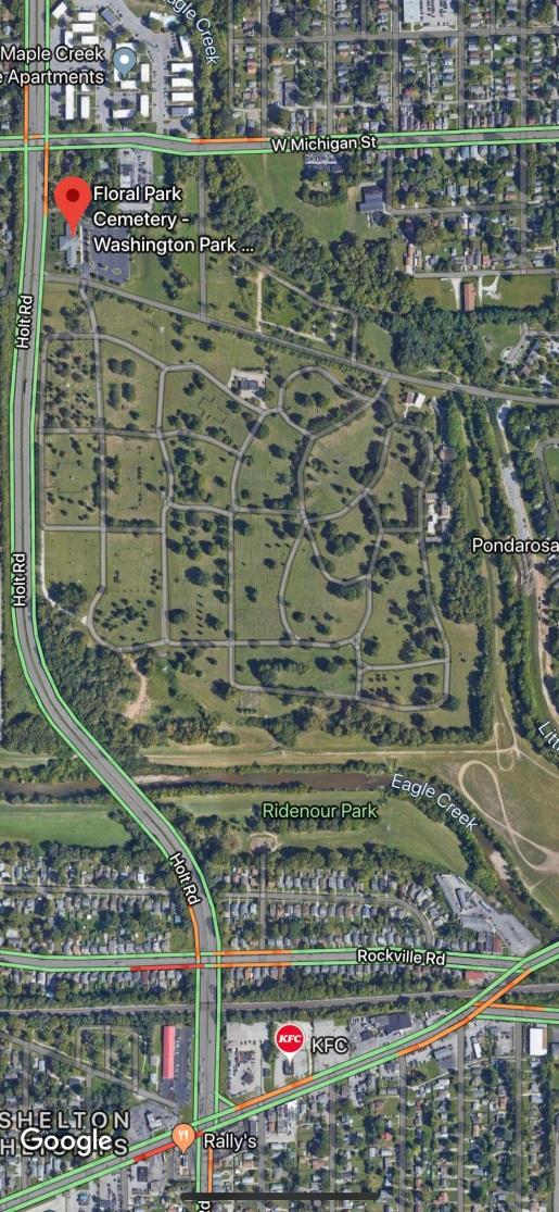 Floral Park Cemetery - Google Map View