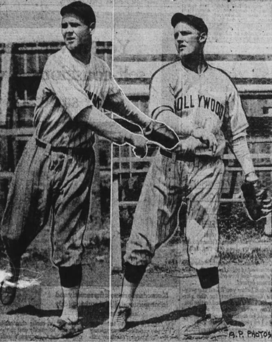 Charles Wetzel and Frank Schellenback in Oakland Tribune in 1930 - AP Wire Photo